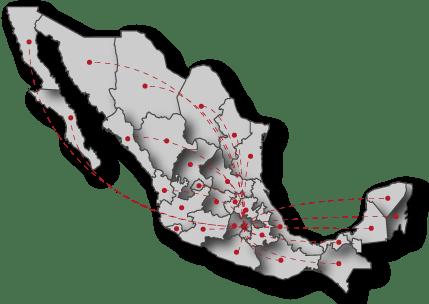Mapa de cobertura Sinergia publicitaria