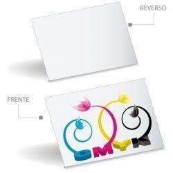1000 Tarjetas de Presentación Papel Couche 4x0 Tintas