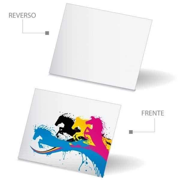 1000 Tarjetas de Presentación Papel Sulfatada 4x0 Tintas