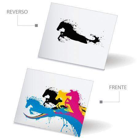 Volante Carta Papel Bond 4x4 Tintas