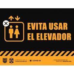 señalética evitar usar elevador