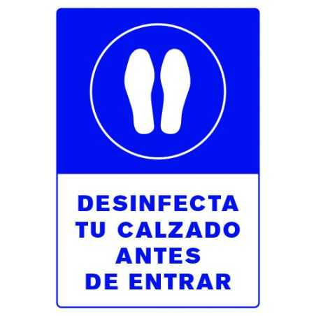 Señalética Desinfección de Calzado