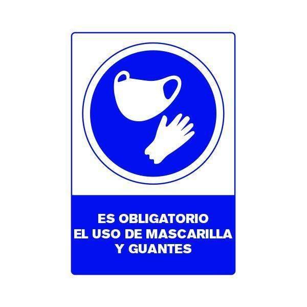 Señalética Uso de Guantes y Mascarilla