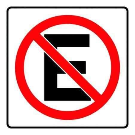 señalética no estacionarse