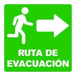 Señalética Ruta de Evacuacion Derecha