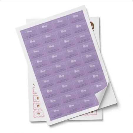 etiquetas en papel adhesivo