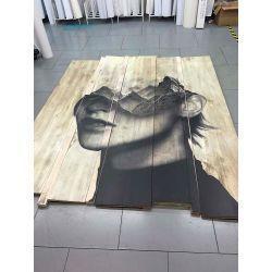impresión en madera