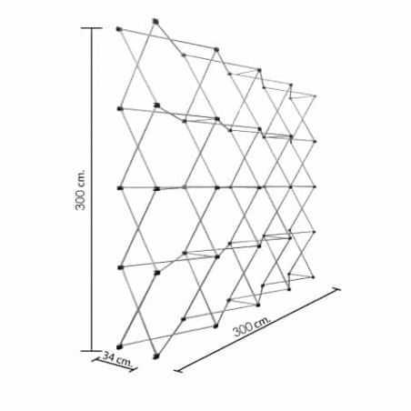 muro plegable 300x300 cms