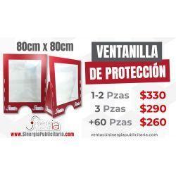mampara protección 80x80